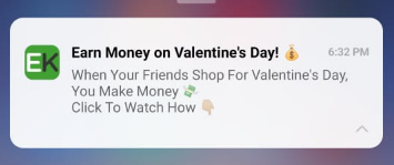 EarnKaro sends a Valentine's deal