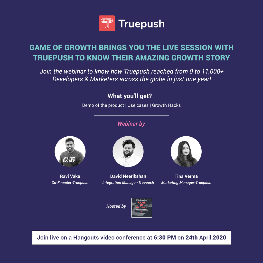 Webinar Ep 1- Truepush demo, use cases, and crucial growth hacks for businesses