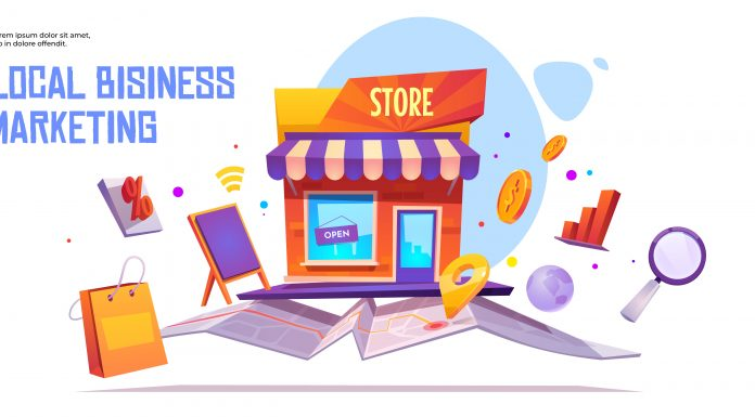 Local business marketing vector banner template